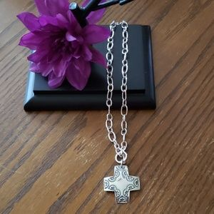 Silpada .925 SS Cross Necklace